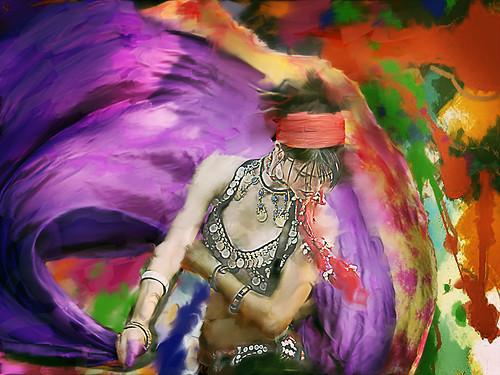 purple swirlydancer