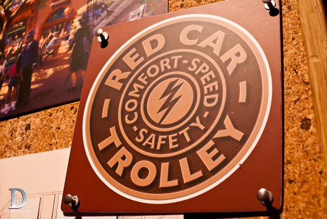 Blue Sky Cellar - Buena Vista Street - Red Car Trolley Logo
