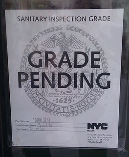 NYC Eatery Hygiene Grade Pending