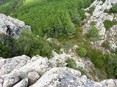 Castellu di Chirgini Visconti : le col 780m en dessous