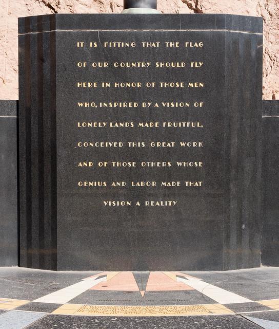 Hoover Dam Monument (Inscription)
