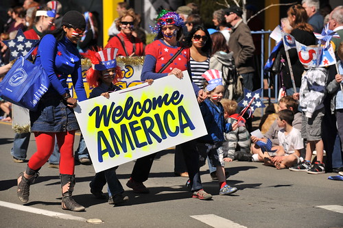 Richmond for the Street Parade and Block Party to celebrate the USA Eagles arrival - RWC 2011.
