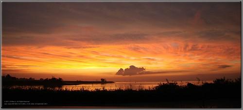 sunset panorama river delaware
