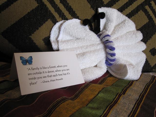 Towel Butterfly!
