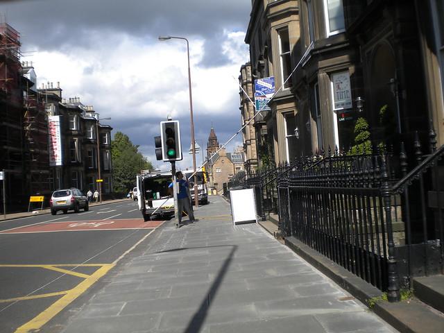 Una calle en Edimburgo