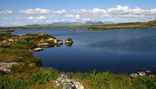 Connemara; bog, lake and mountain