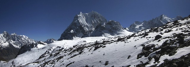 Shani peak from the pass.