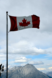 Flag Over Sulfur Mountain