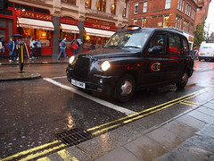 London Taxi in the Rain