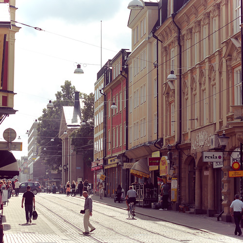 The streets of Norrköping.
