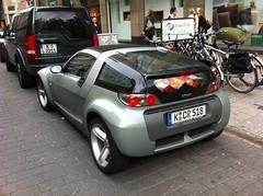 automobile(1.0), sport utility vehicle(1.0), smart roadster(1.0), supermini(1.0), vehicle(1.0), automotive design(1.0), city car(1.0), land vehicle(1.0), sports car(1.0),