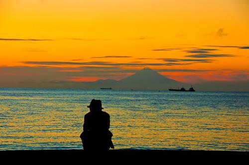 "sunset japan japanese tokyo nikon pacificocean chiba 日本 fujisan nippon 東京 富士山 mtfuji tateyama tokyobay d300 千葉 ニコン ajpscs 館山 dayover ""flickraward"" silverweek bōsōpeninsula"