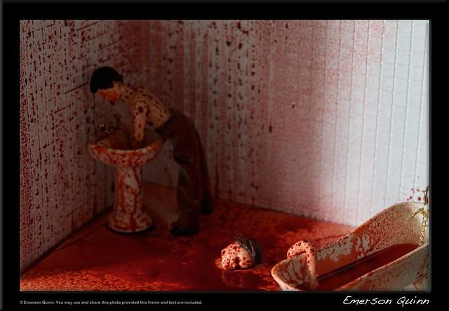 Bloody bathroom murder scene 1 flickr photo sharing for Bathroom scenes photos
