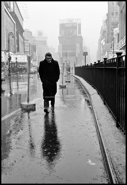 James Dean, Times Square, New York, 1955, by Dennis Stock