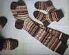brown knit wool socks