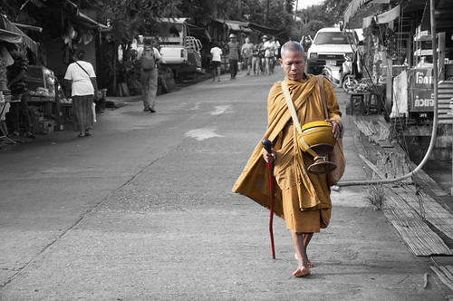 A monk on pilgrimage