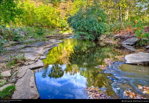 water rural reflections river rocks stream fallcolors country maryland september hdr highdynamicrange midland georgescreek westernmaryland alleganycounty canont1i
