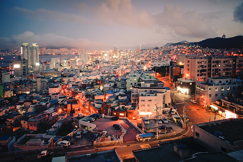 city urban panorama lights evening nikon asia view korea aerial busan unitednations population southkorea unphoto