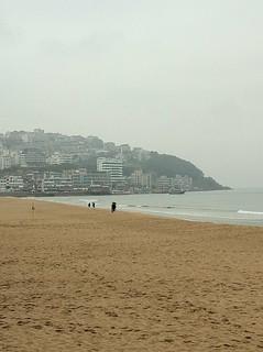 Image of Haeundae Beach (해운대해수욕장) Haeundae Beach near Haeundae-gu. korea busan 부산 2011