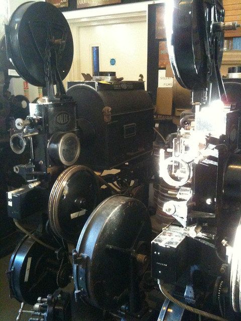 Kalee film projectors at the Cinema Museum