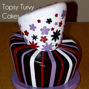shiny-stripes-topsy-turvy-cake