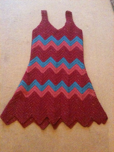 Zig zag crochet dress Flickr - Photo Sharing!