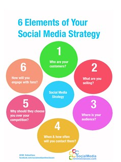 6 Elements Social Media Strategy Infographic