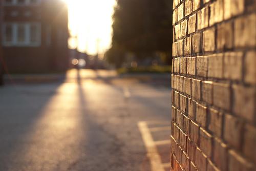 street corner at dawn