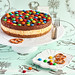 M&M Chocolate Mousse Cheesecake with a Salted Pretzel Crust