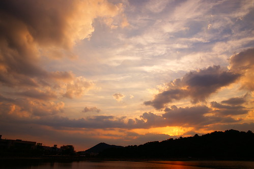 sunset lake clouds day cloudy cloudscapes justclouds cloudsstormssunsetssunrises