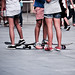 Girls on (skate)board.