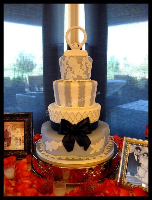 Vintage Romance Wedding Cake As I was working on this cake I kept thinking