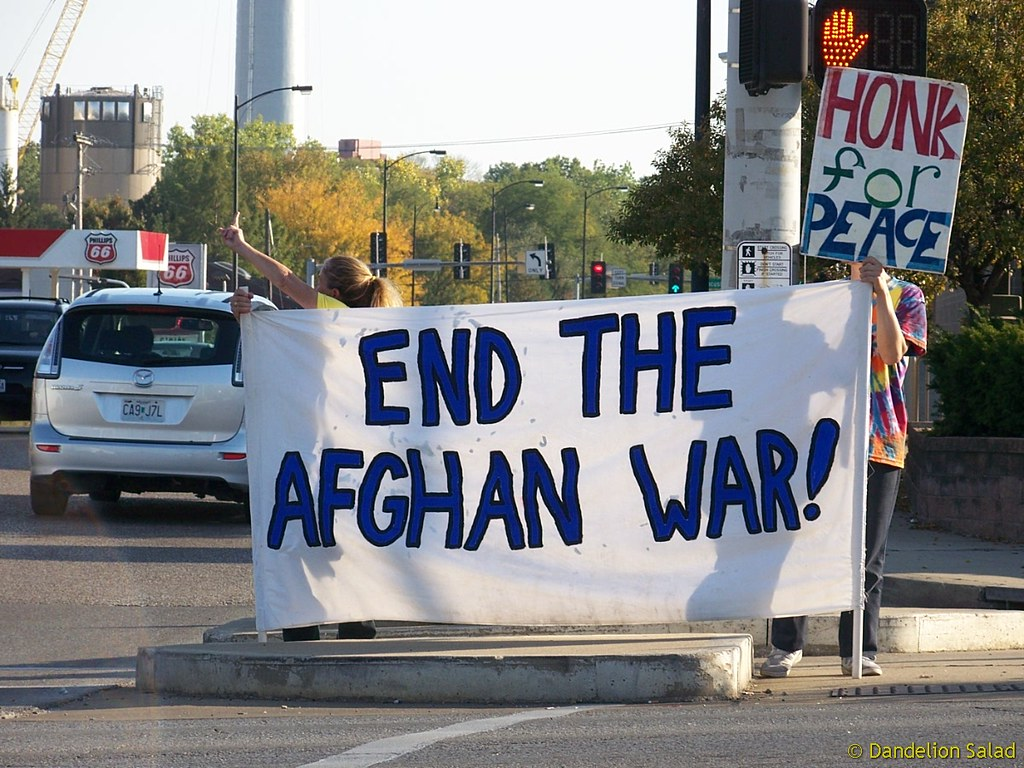 Stop the Wars! End The Afghan War Honk for Peace