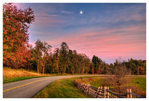 trees sunset sky color fall nature fence landscape photography virginia october n dramatic foliage hdr blueridgeparkway d90 gyawali