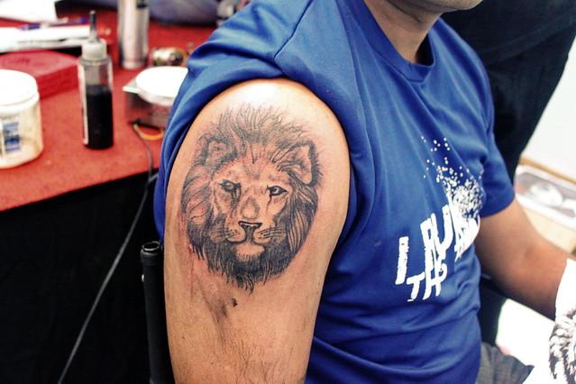 Veer Hegde tattoo artist bangalore Lion tattoo