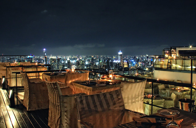 Bangkok night view at Vertigo & Moon Bar
