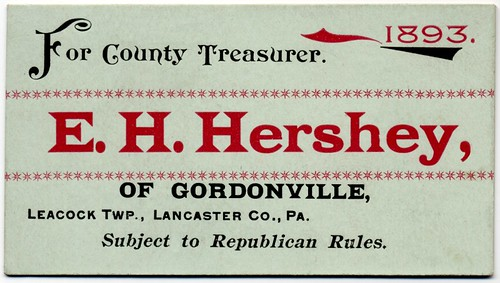 E. H. Hershey for County Treasurer 1893