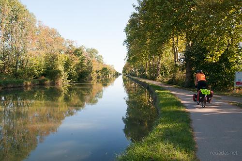 Carril bici llegando a Tolouse