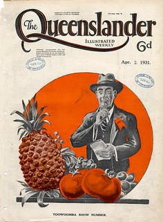 Illustrated front cover from The Queenslander, April 2, 1931
