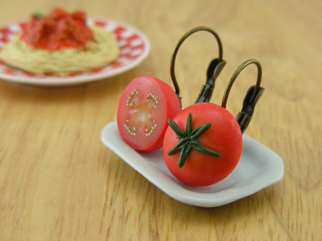 Tomato Earrings
