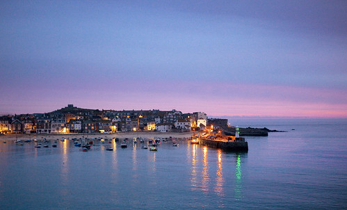 Dawn, St Ives Harbour, Cornwall, England