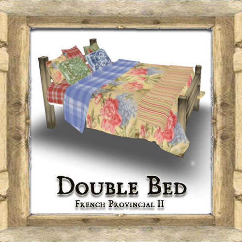 Shabby Chic French Provincial Double Bed II