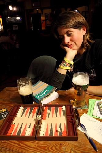 Backgammon in The Strand