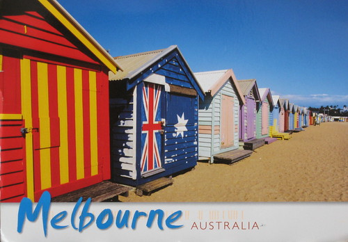 painted bathing boxes, Brighton, Melbourne