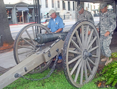 vehicle(0.0), steam engine(0.0), horse and buggy(0.0), carriage(0.0), cart(0.0), wheel(1.0), weapon(1.0), cannon(1.0),