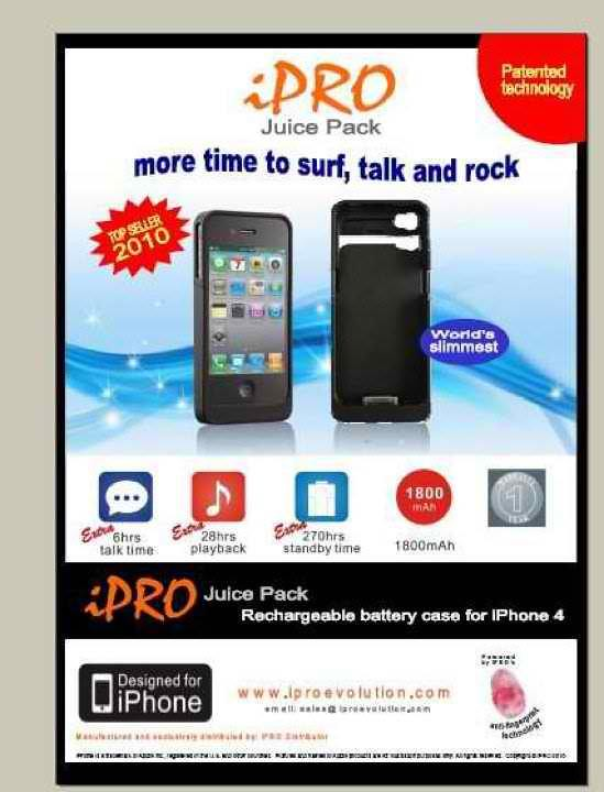 iPRO Juice Pack for iPhone 4