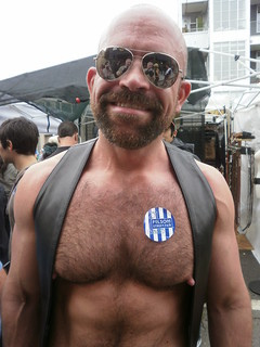 FOLSOM STREET FAIR -BAD DADDIES-porn star MARCO DBRUTE-SEXY HUGE MAN NIPS (SAFE PHOTO)