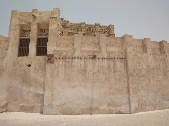 Fotografias da zona antiga de Sharjah Old Heritage Area, EAU