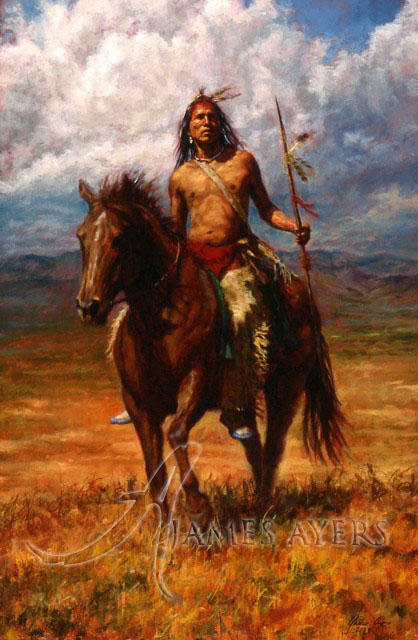 Master of His Land Crow James Ayers original painting