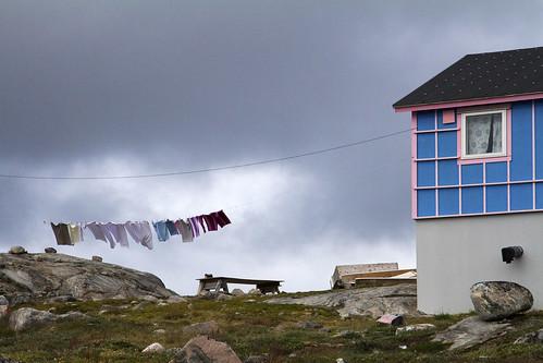 Kullorsuaq, un des villages inuit le plus septentrional de l'ouest du  Groenland